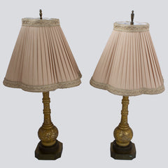 Venetian Glass Painted Glass Table Lamps - Pair