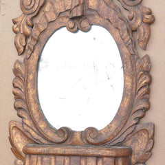 Spanish Baroque Double Mirror Wall Pocket