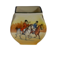 Steeplechase Hand Painted Vase Royal Doulton
