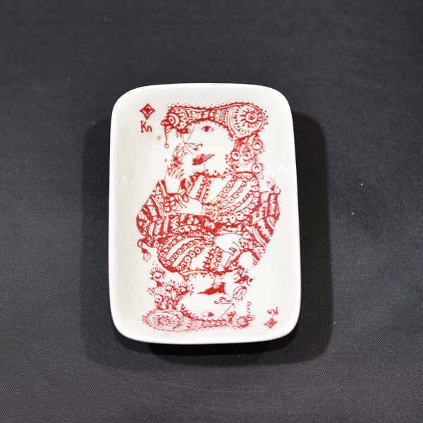 Bridge Ashtray Set by Bjørn Wiinblad for Nymolle Art Faience, Mid-Century