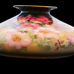 Unique Painted Limoges Tressemann and Vogt Flat Vase