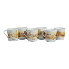 Small Dutch Souvenir Costume Echt Beiers Porselein Set of 6 Cups