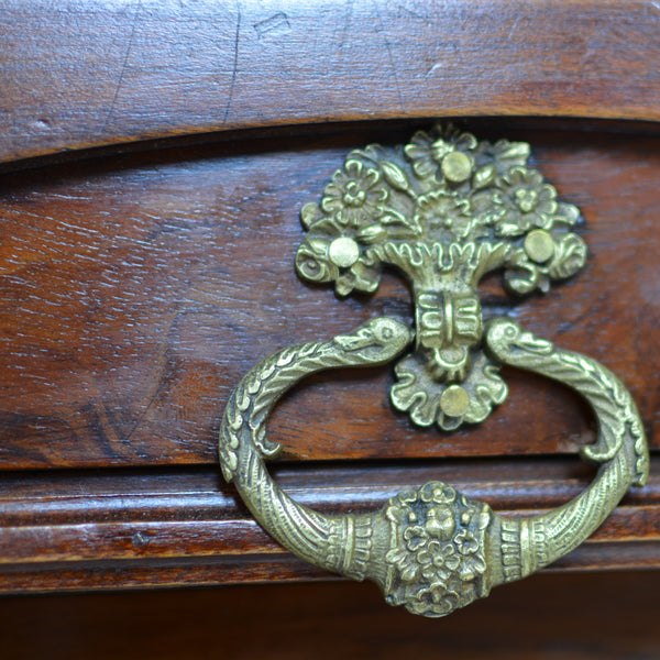 Napoleonic Era Desk with Bronze Detail Circa 1815 Drawer Pull Details