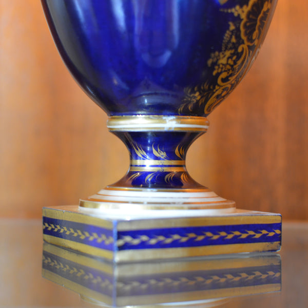 Antique English Derby Vase with View of Wales European Finds Base