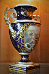 Antique English Derby Vase with View of Wales European Finds Side