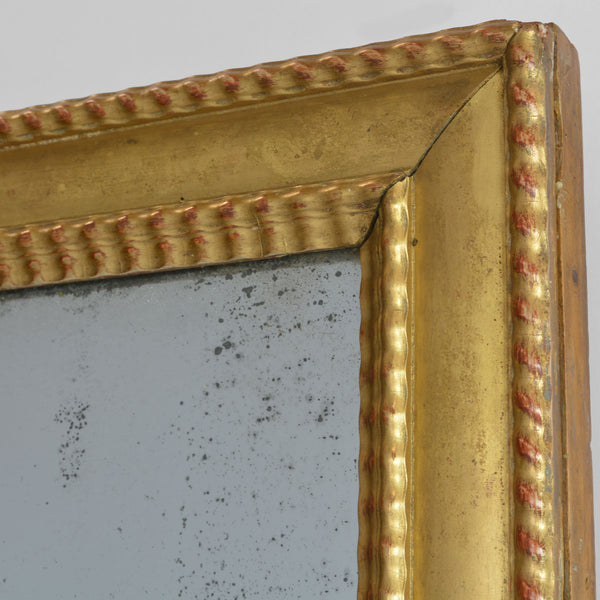 Antique Mercury Glass Mirror with Gold Gilt Frame Corner