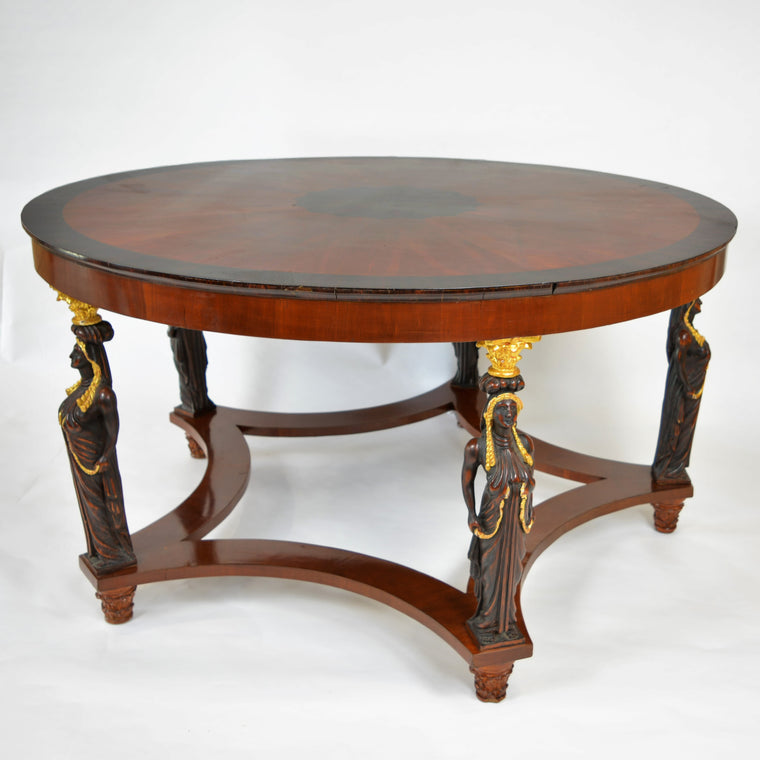 Empire Gilt Bronze Five Leg Center Table Circa 1840