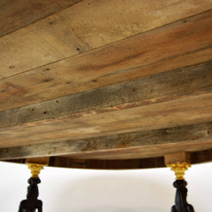 Large Five Leg Center Table with Gilt Bronze Detail circa 1840 Wood Underneath