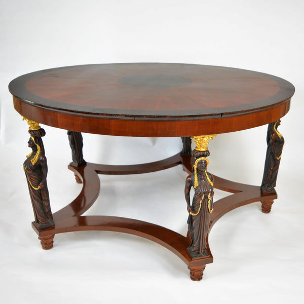 Large Five Leg Center Table with Gilt Bronze Detail circa 1840