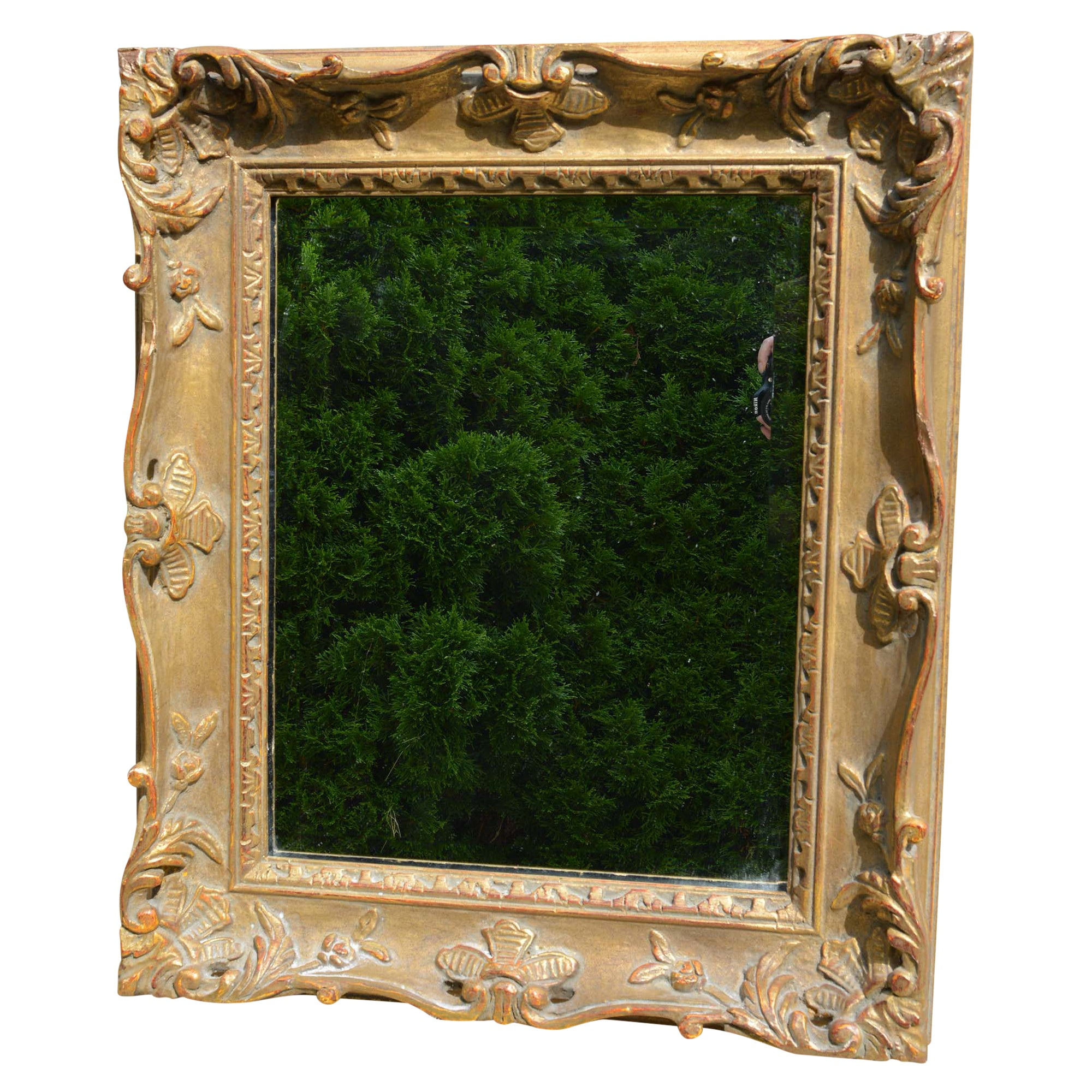 French Antique Style Gold Frame Mirror European Finds