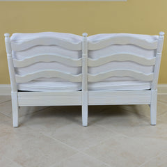 French Provincial Style 2 Person White Settee
