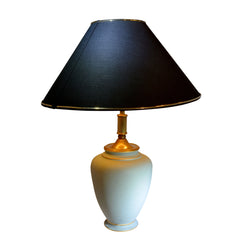 Limoges Green Lamp Urn Shaped by Tharaud