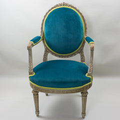 19th Century Louis XVI Arm Chairs with Cameo Backs Chair 1