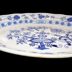 Late 19th Century Blue and White Porcelain Large Blue Onion Platter