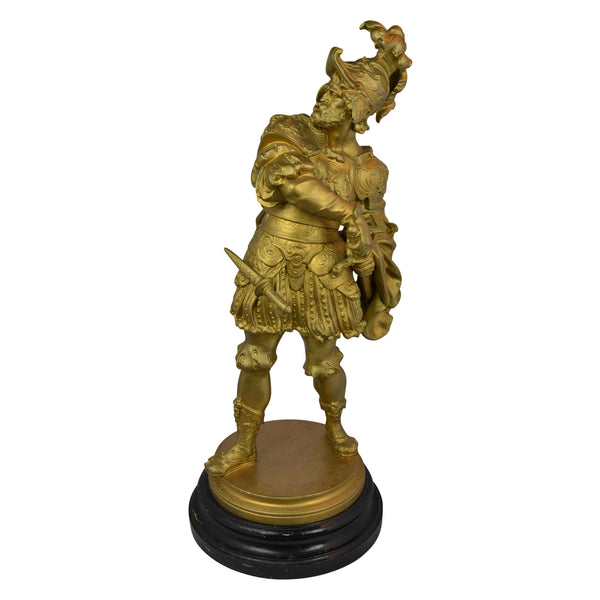 Metal Statue Spanish Soldier European Finds Front