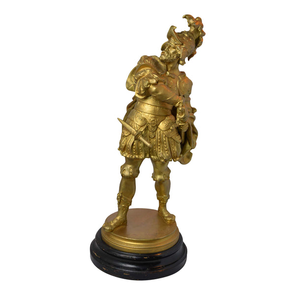 Metal Statue Spanish Soldier European Finds Left