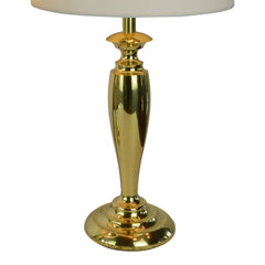 Pair of Brass Stiffel Mid-Century Modern Table Lamps with Drum Shades