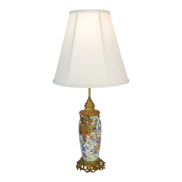 Multi-Color Napoleon III Bronze Details Lamp