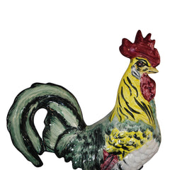 Vintage Pennsbury Pottery Colorful Rooster Figurine Green Base