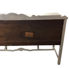Antique Walnut Sideboard Chalk Painted Off White