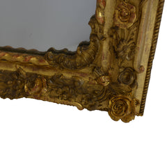 Rare Pair of Charles X Gilded Mirrors Bottom Corner Right