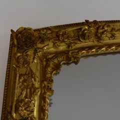 Rare Pair of Charles X Gilded Mirrors Top Corner Left