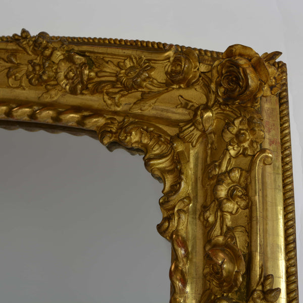 Rare Pair of Charles X Gilded Mirrors Top Corner Right