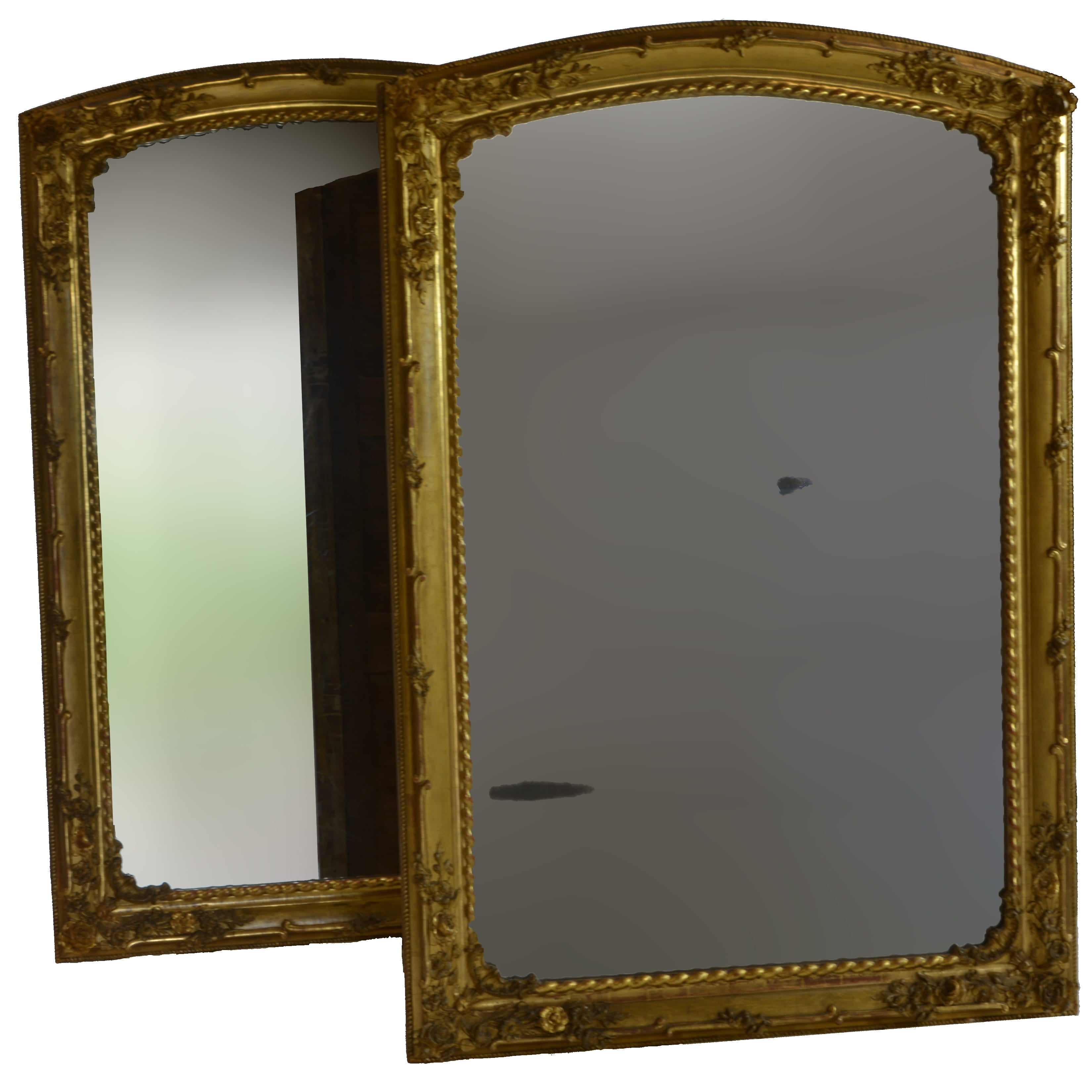 Rare Pair of Charles X Gilded Mirrors Both