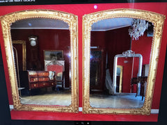 Rare Pair of Charles X Gilded Mirrors Inside Home