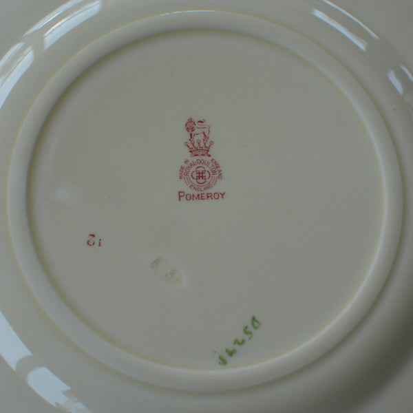 Royal Doulton Red Pomeroy Multi Color China Set European Finds Dinner Plate Hallmark