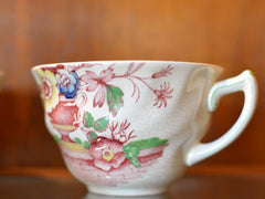 Royal Doulton Red Pomeroy Multi Color China Set European Finds Cup Side