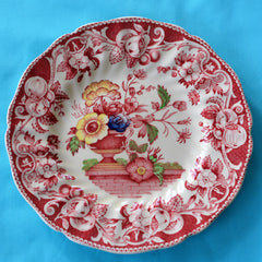 Royal Doulton Red Pomeroy Multi Color China Set European Finds Dinner Plate