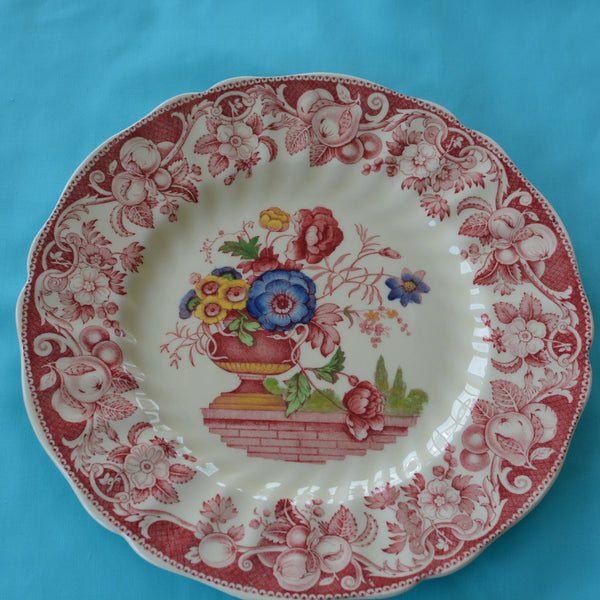 Royal Doulton Red Pomeroy Multi Color China Set European Finds Saucer