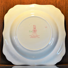 Royal Doulton Red Pomeroy Multi Color China Set European Finds Close of Salad Plate Back