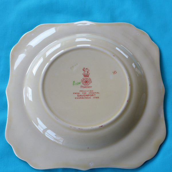 Royal Doulton Red Pomeroy Multi Color China Set European Finds Salad Plate Back on blue