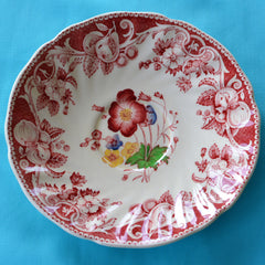 Royal Doulton Red Pomeroy Multi Color China Set European Finds Cup Saucer