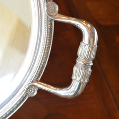 Christofle Silver Plated Oval Serving Tray with Handles