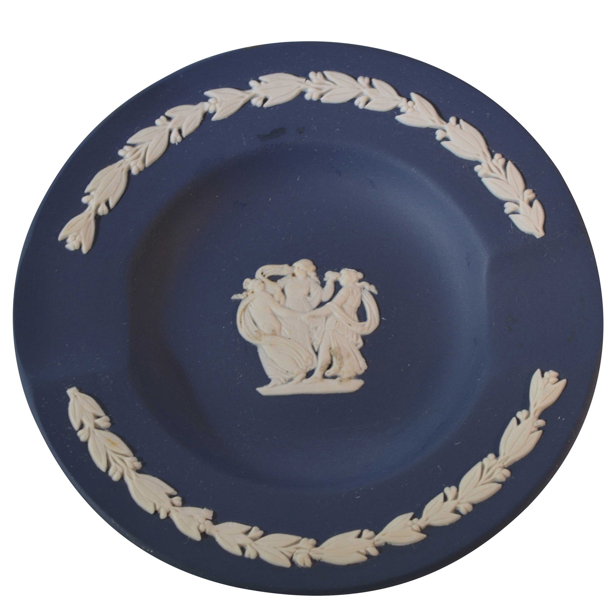 Wedgewood Dark Blue Jasperware Ashtray European Finds