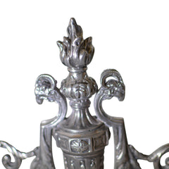 Antique Victor Saglier Art Nouveau Silver Plate Candelabras European Finds Top
