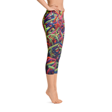 Positively Poppin' Fashion - Capri Leggings - NEON GRASSES