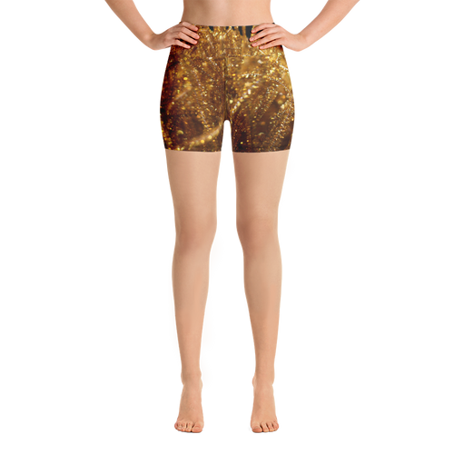 Positively Poppin' Fashion - Yoga Shorts - FIREFLY