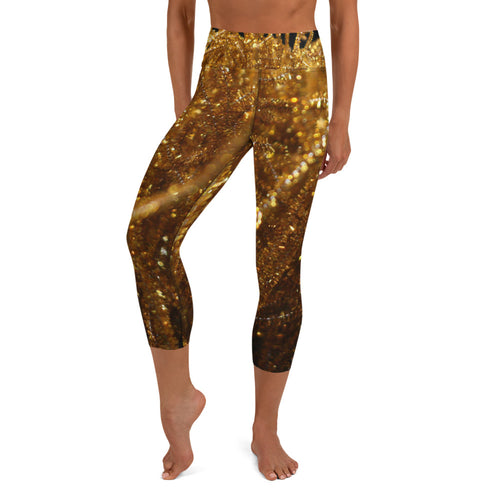 Positively Poppin' Fashion - Yoga Capri Leggings - FIREFLY