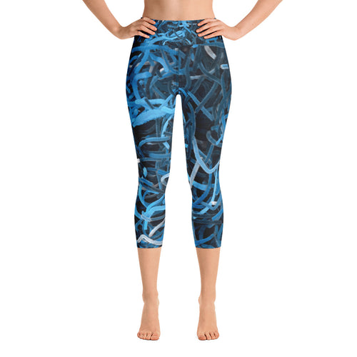 Positively Poppin' - Yoga Capri Leggings - CARIBELLEH