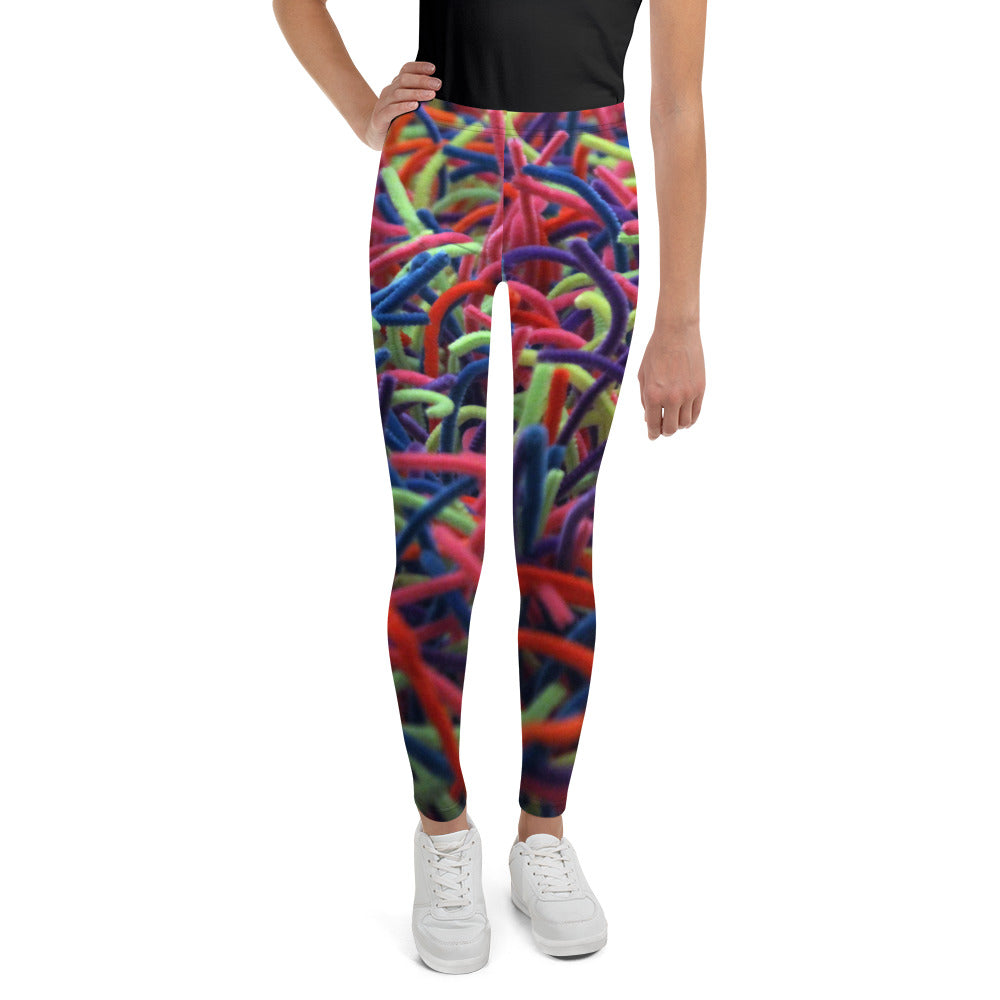 Positively Poppin' Fashion - Youth Leggings - NEON GRASSES