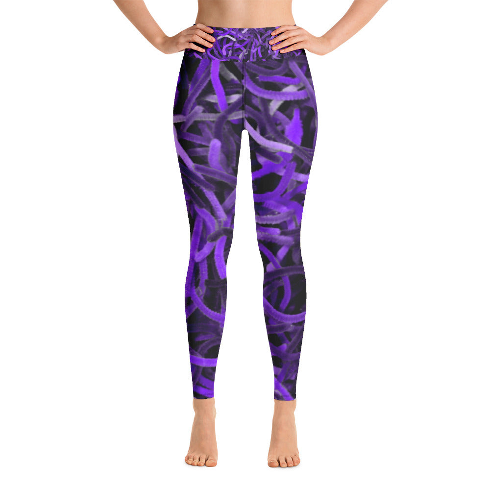 Positive Pop Fashion - Positive Pop Yoga Leggings - PURPLE MARTIN