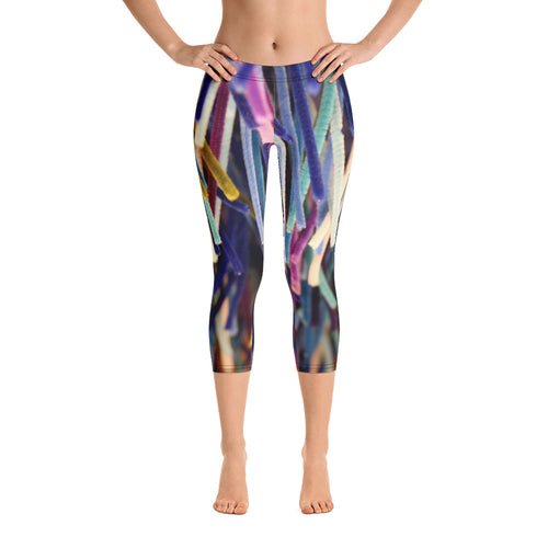 Positive Pop Fashion - Positive Pop Capri Leggings - BLUE MOON