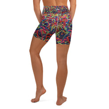 Positively Poppin' Fashion - Yoga Shorts - NEON GRASSES