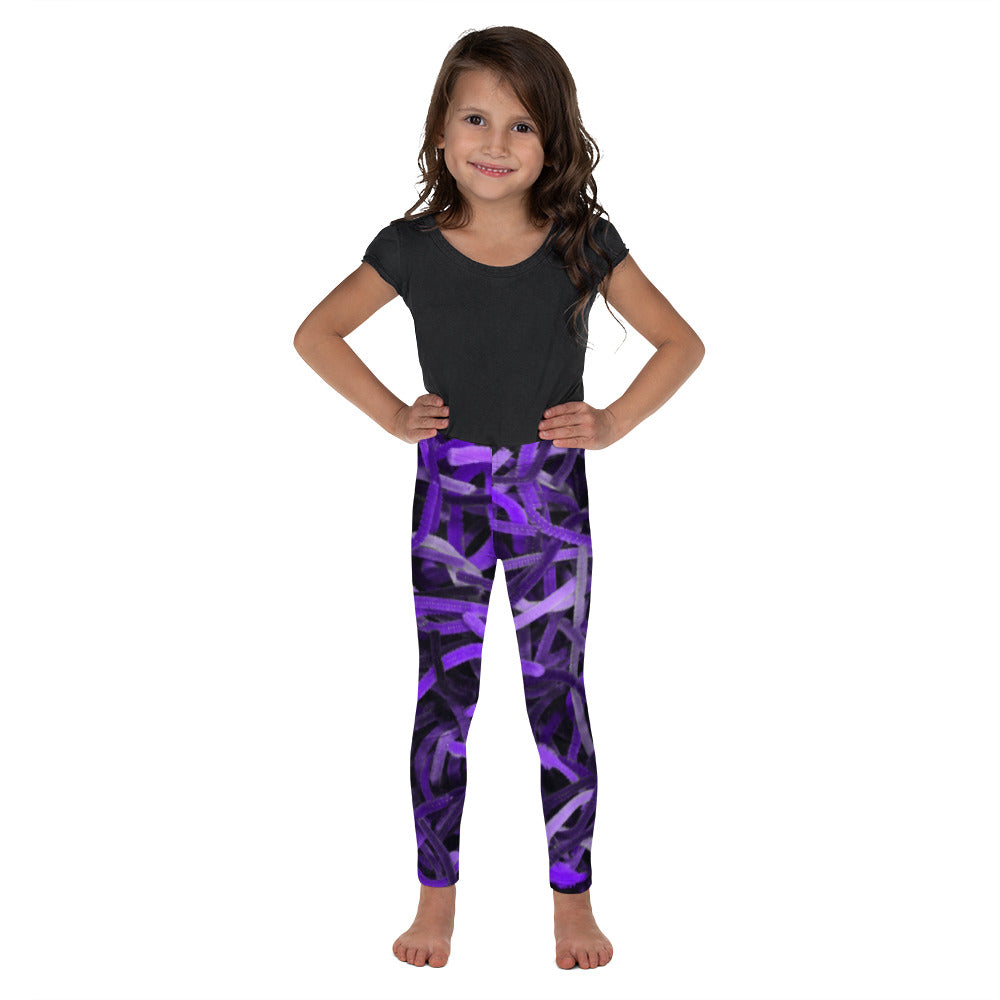 Positively Poppin' Fashion - Kid's Leggings - PURPLE MARTIN