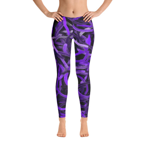 Positive Pop Fashion - Positive Pop Leggings - PURPLE MARTIN