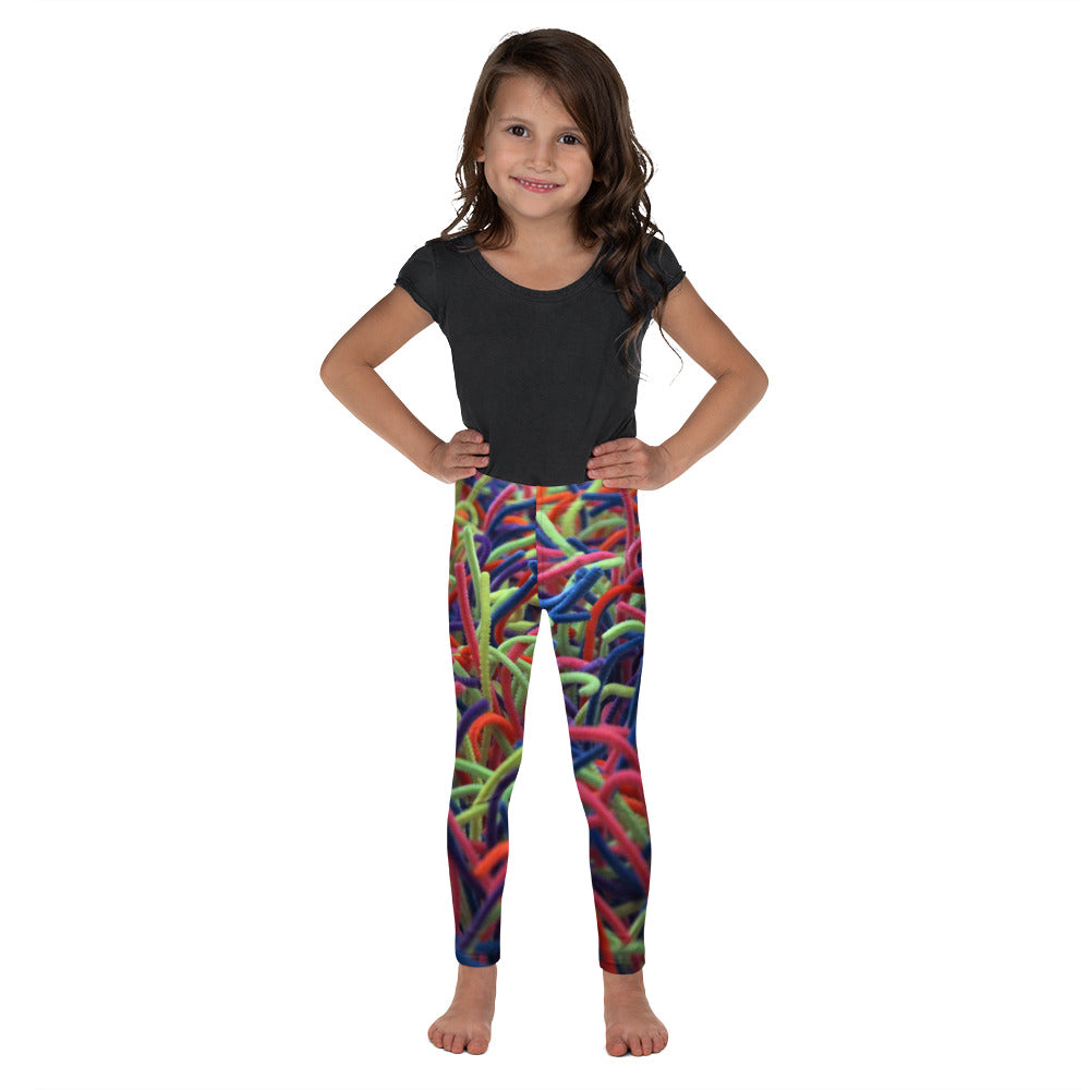 Positive Pop Fashion - Kids Leggings - NEON GRASSES